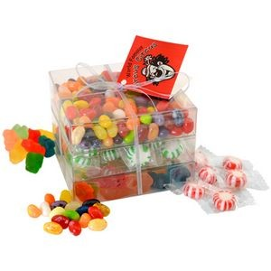 Candy Covered Large 3 Way Stack Acetate Tower w/Ribbon & Hang Tag