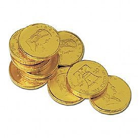 Stock Franklin & Liberty Chocolate Coins