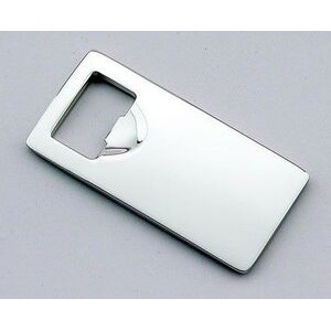 Nickel Plated Rectangular Bottle Opener