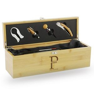 Engraved Bamboo Wine Box Kit