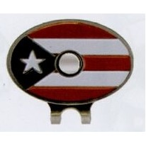 Stock Puerto Rico Flag Hat Clip