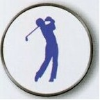 Male Golfer Stock Ball Markers