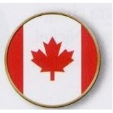 Canada Flag Stock Ball Markers