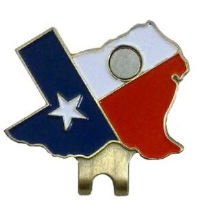 Texas State Shape Hat Clip