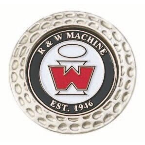 "Dimpled Golf Coin w/ 1"" Ball Marker"