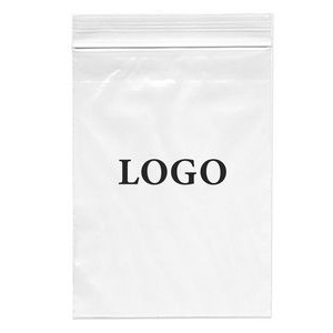 "Zip-lock Printed Bags 4 Mil. (Ink Imprinted) 13"" x 18"""