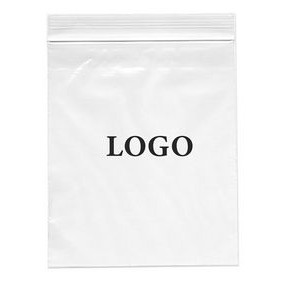 "Zip-lock Printed Bags 4 Mil. (Ink Imprinted) 13"" x 15"""
