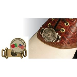"Golf Shoe Marker w/Full Color Ball Marker (1"")"