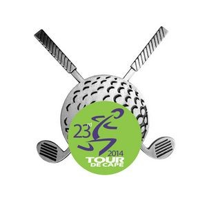 Magnetic Crossed Clubs Removable Ball Marker
