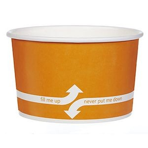 20 Oz. Paper Dessert/ Food Cup - Flexographic Printed