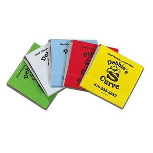 Stock Color 30-Stem Matchbook (Black On Assorted Colors)