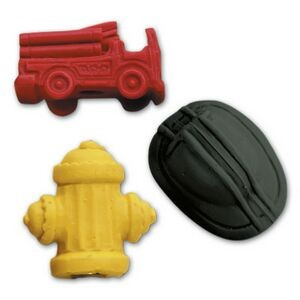 Firefighters Stock Shape Pencil Top Eraser