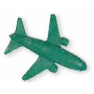 Airplane Stock Shape Pencil Top Eraser