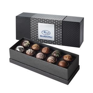 La Lumiere Collection - 10 piece Belgian Chocolate Signature Truffle Box - After Dinner with Sleeve
