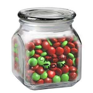 Contemporary Glass Jar - Holiday M&M's® (20 Oz.)