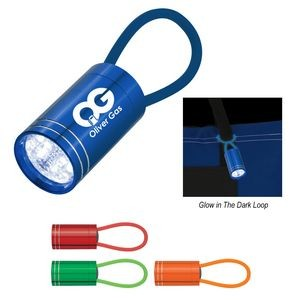 Glow In The Dark Aluminum LED Flashlight