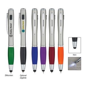 Trio Pen With LED Light And Stylus