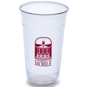 24 Oz. Clear Jumbo Plastic Party Cup (Silk Screen Printing)