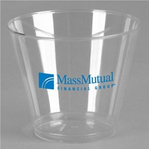 9 Oz. Crystal Clear Plastic Squat Cup