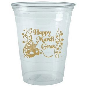 12 Oz. Clear Large Plastic Party Cup (Silk Screen Printing)