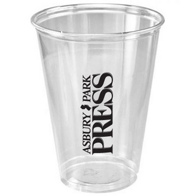 10 Oz. Clear Medium Plastic Party Cup (Offset Printing)