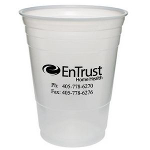16 Oz. Translucent Large Plastic Party Cup (Silk Screen Printing)