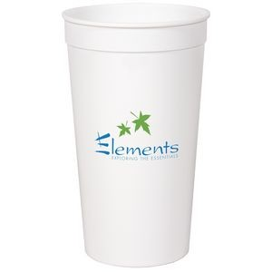 32 Oz. Smooth White Stadium Cup (Grande Line)
