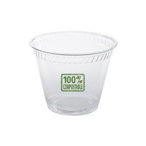 9 Oz. Soft-Sided Greenware Plastic Squat Cup (Grande Line)