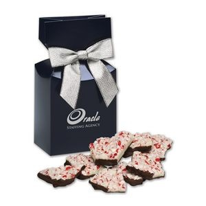 Peppermint Bark in Navy Premium Delights Gift Box