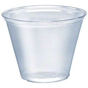 9 Oz. Squat Clear Plastic Soft-Flex Disposable Tumbler