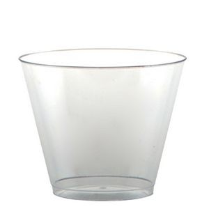 9oz Squat Clear Rigid Disposable Plastic Tumbler