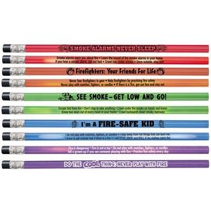 Assorted Colors Heat-Sensitive Pencil Assortment Pack With Fire Safety Tips