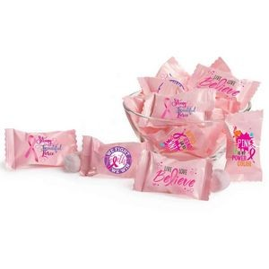 "Awareness Pink Buttermint Assort-""mint"" in Full-Color Slogan Wrappers"