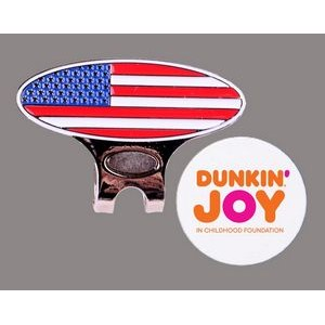 Golf Visor USA Hat Clip w/Removable Ball Marker