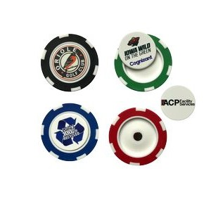 Poker Chip w/Removable Ball Marker