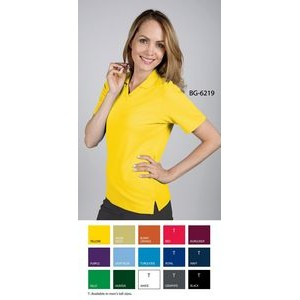 Ladies Moisture Wicking Short Sleeve Polo Shirt