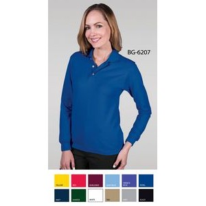 Ladies' Long Sleeve Superblend™ Pique Polo Shirt