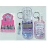 Fruit Flavor Cell Phone Shape Lip Gloss Key Chain