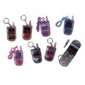 Cell Phone Shaped Lip Gloss Key Chain & Necklace
