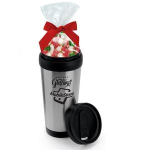 16 Oz. Stainless Steel Tumbler w/Candy Bag