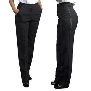 Ladies Gourmet Tailored Front Tuxedo Pants