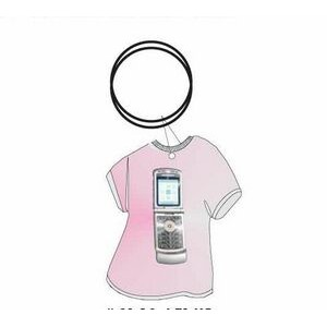 Cell Phone T Shirt Keychain w/ Mirrored Back (4 Square Inch)