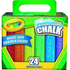 Crayola® 24 Count Washable Sidewalk Chalk