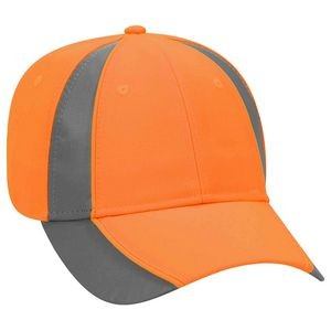 OTTO 6 Panel Reflective Piping Low Profile Baseball Cap