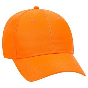 OTTO Neon Polyester Twill 6 Panel Low Profile Baseball Cap
