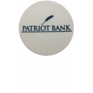 Custom Plastic Quarter Ball Marker / 1 Color Imprint