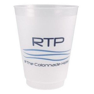 16 oz. Frost-Flex™ Reusable, Unbreakable Plastic Stadium Cup with Automated Silkscreen Imprint