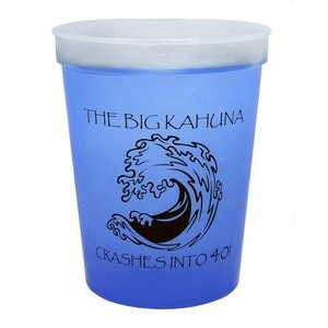 16 oz. Color Changing Smooth Plastic Stadium Cup