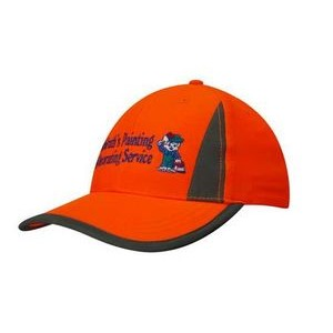 Luminescent Safety Cap w/ Reflective Trim & Inserts (Embroidered)