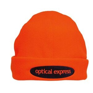 Luminescent Safety Beanie Micro-Fleece Cap (Embroidered)
